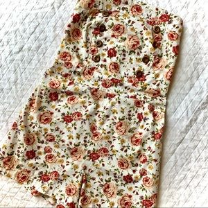 POETRY Strapless Floral Romper